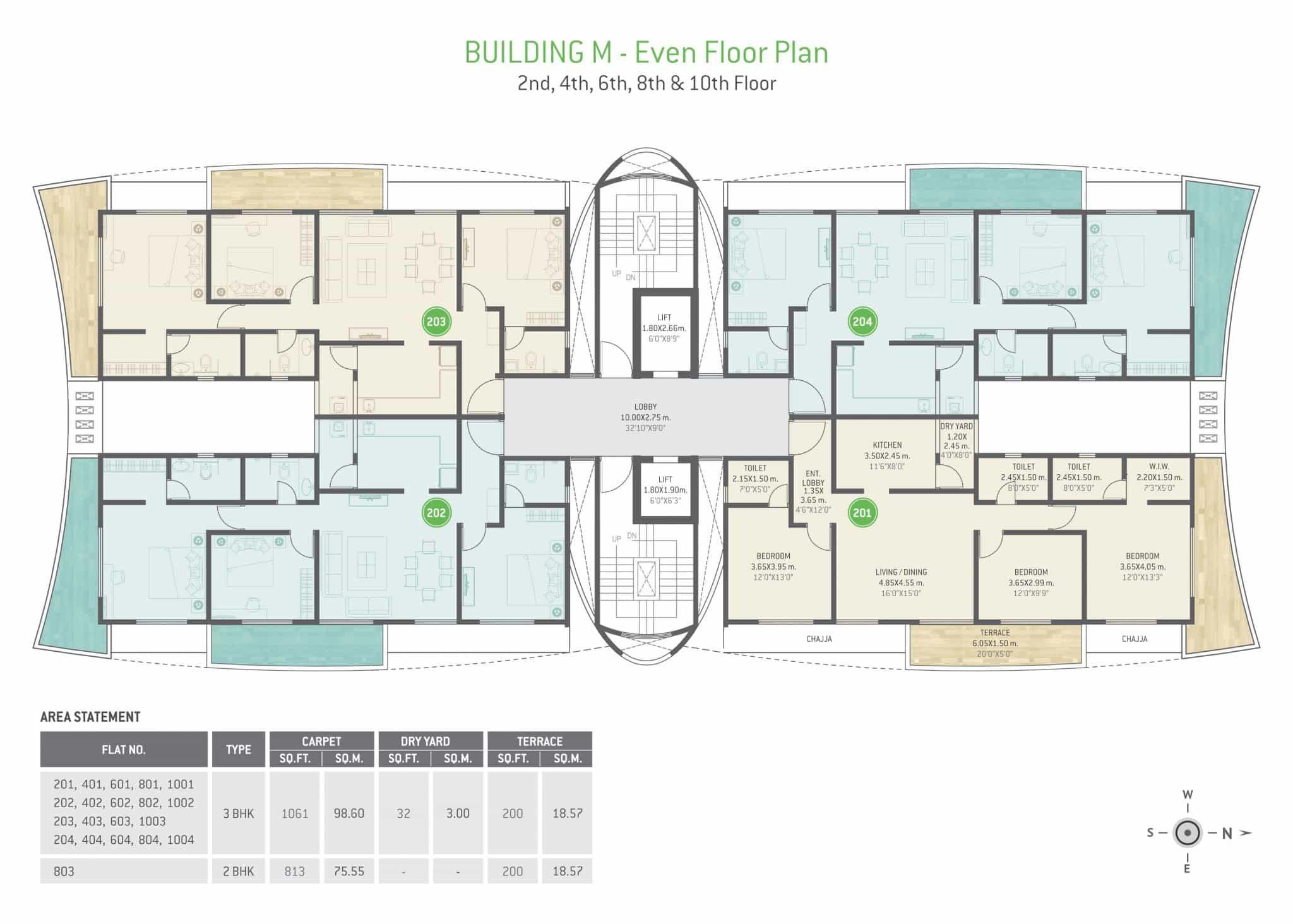 Building M - Even Floor