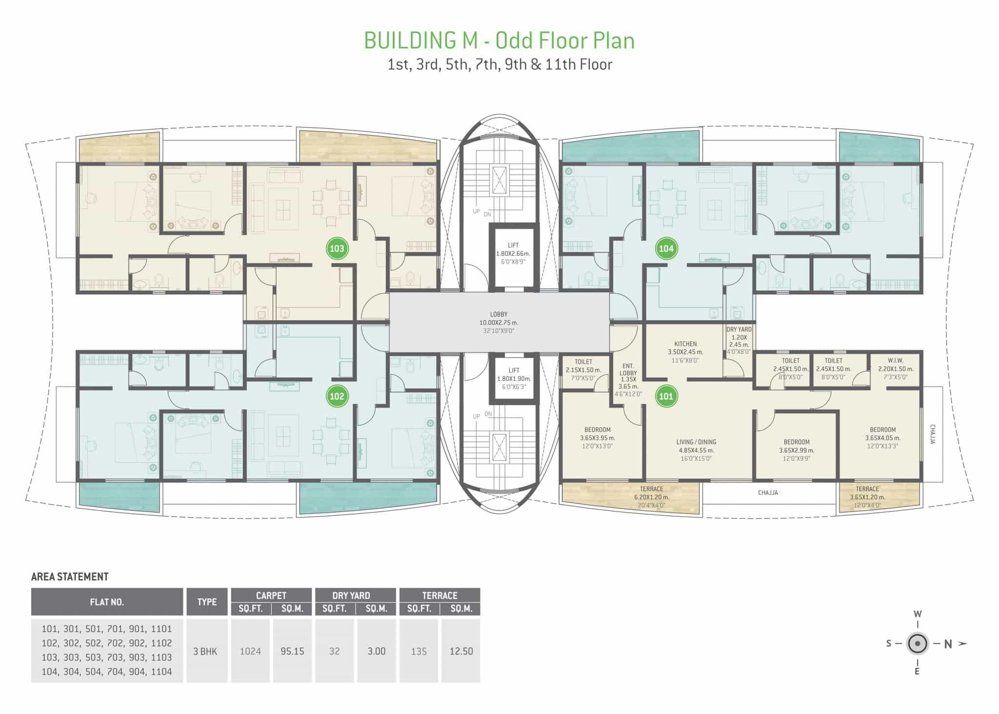 Building M - Odd Floor