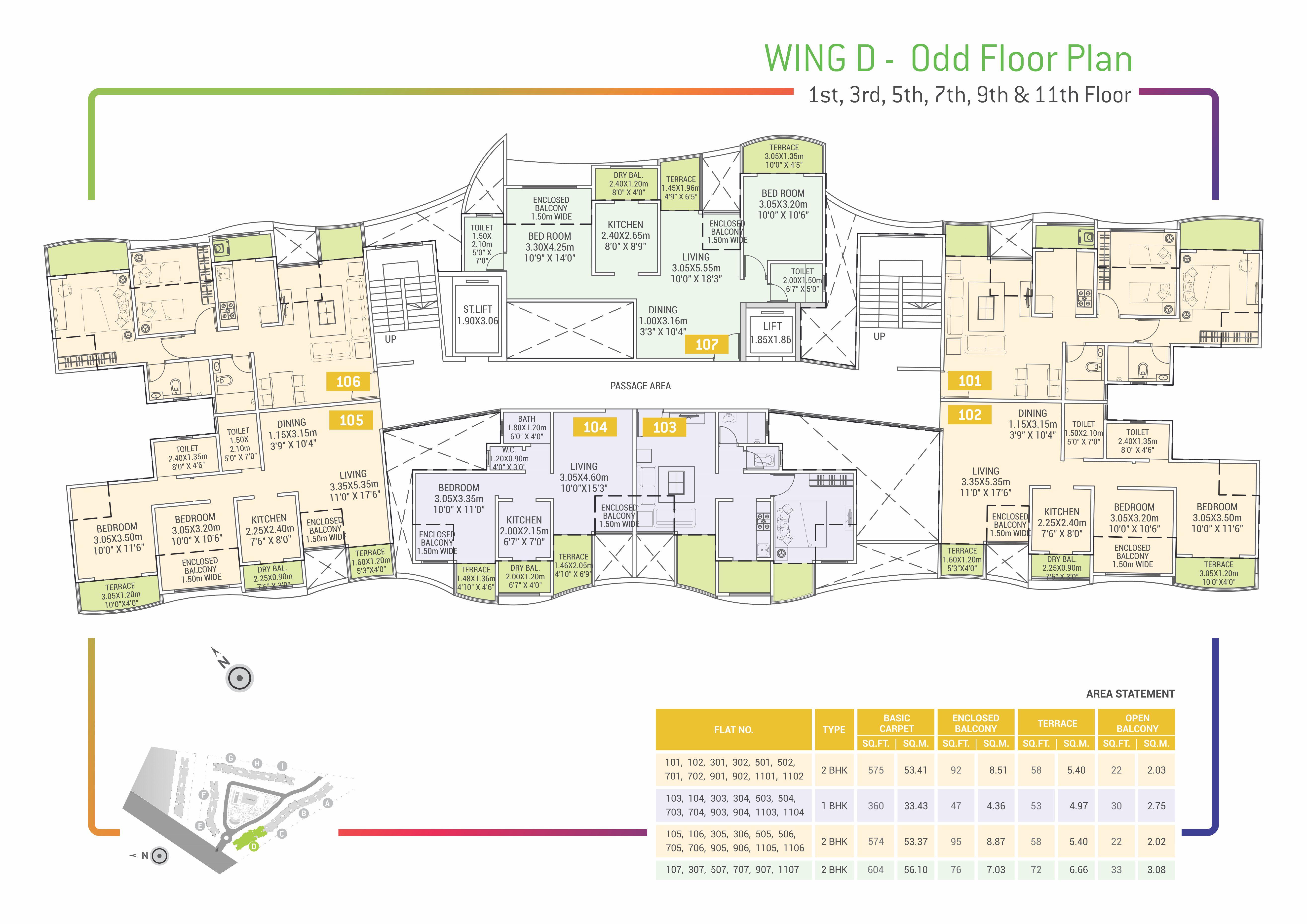 Urban Life Floor Plans - D - Odd