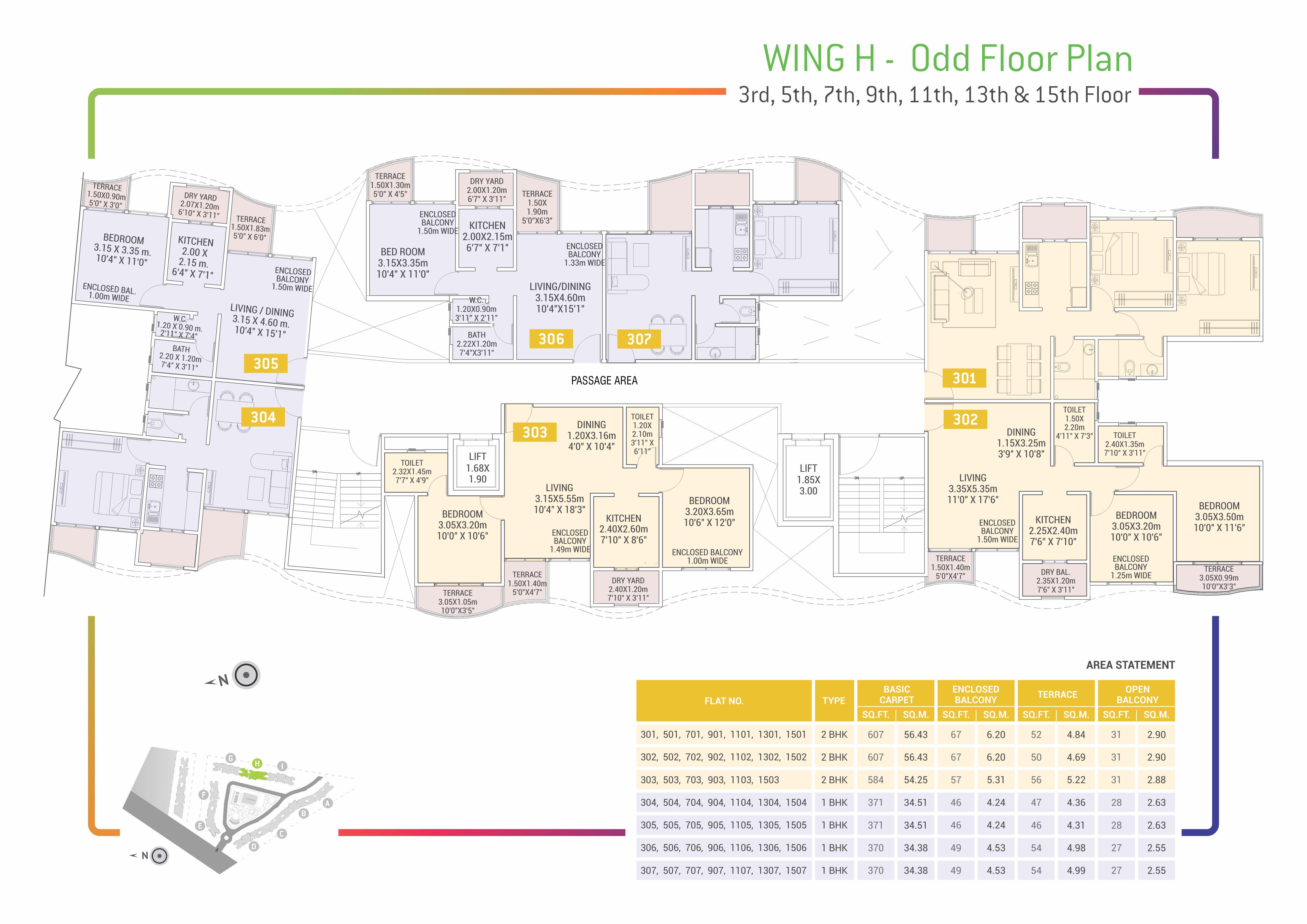 Urban Life Floor Plans - H - Odd