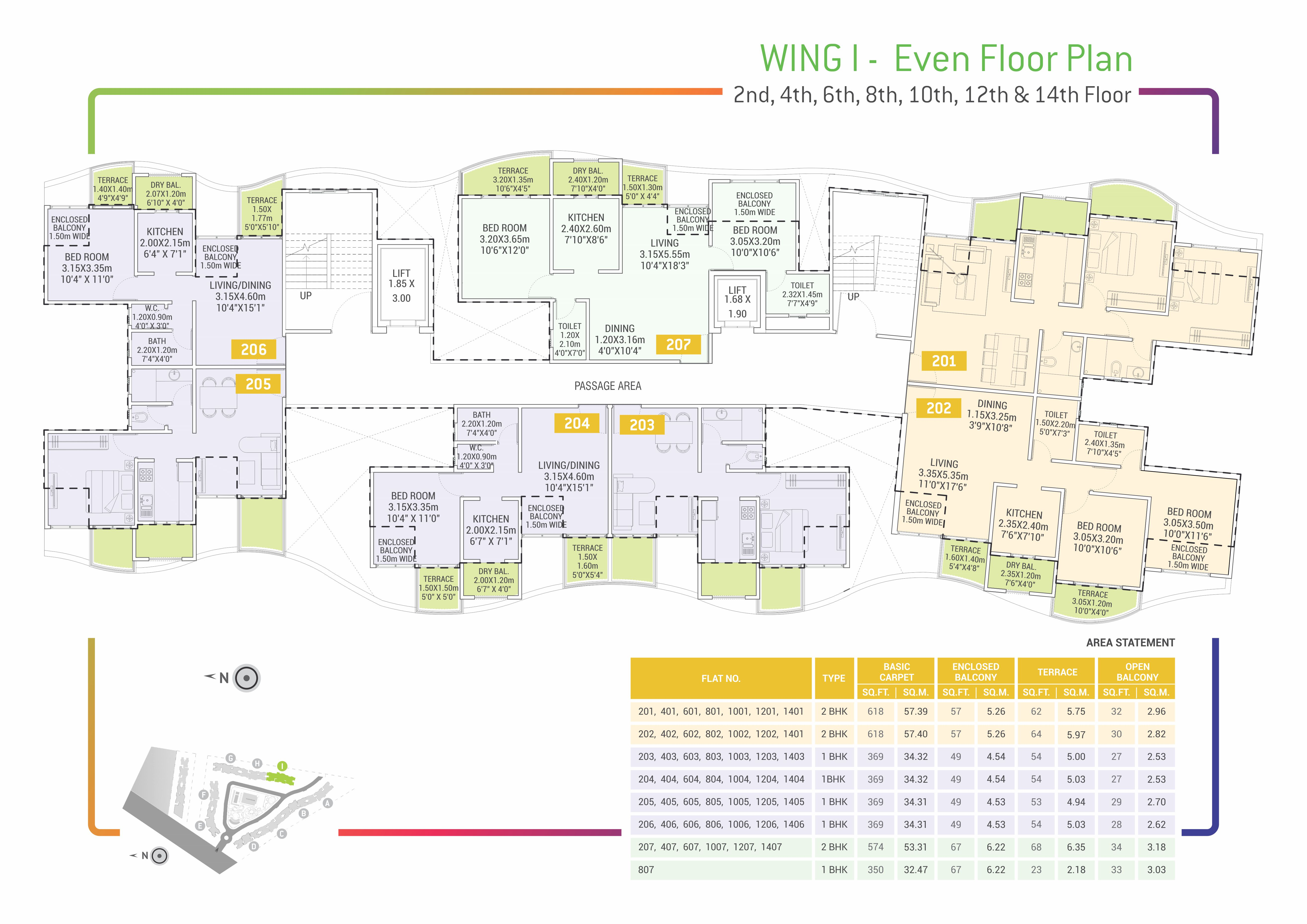 Urban Life Floor Plans - I - Even