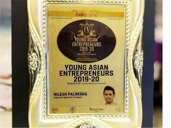 Young Asian Entrepreneurs 2019-20 – Mr. Nilesh Palresha