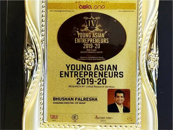 Young Asian Entrepreneurs 2019-20 – Mr. Bhushan Palresha